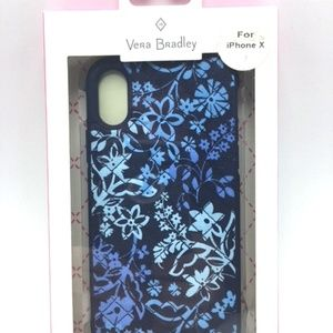 Vera Bradley Blue Floral Quilted Case for iPhone X